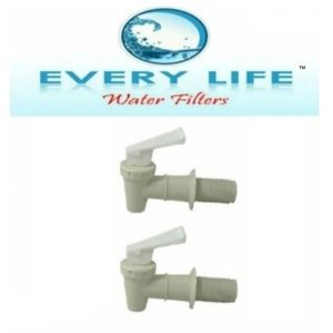 White Faucet BPA- Free Spigot Twin Pack 3/4 inch